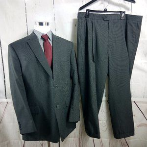Haggar Suit Up System 48L Gray Pinstripe 2pc Suit